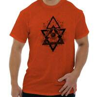 Spiritual Wheel Geometric Graphic Symbolic Short Sleeve T-Shirt Tees Tshirts