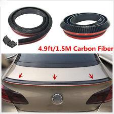 1.5 Meters Universal Carbon Fiber Car Rear Roof Trunk Spoiler Wing Lip Sticker