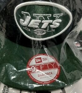 New York Jets NFL New Era Basic 9FIFTY Snapback Hat - Black/Green Sealed