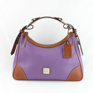 Dooney & Bourke Grape Purple Pebbled Leather Hobo Handbag