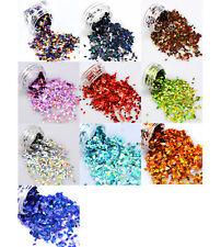 Diamond Holo Glitter Sequins For Nail Art Design Decoration, Colour Choice, UK