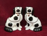 Pair of Vintage Dogs Spaniels Figures Models by William Kent Staffordshire Ware