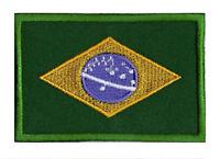 Ecusson patch patche drapeau BRAZL Brésil 70 x 45 mm Pays Monde