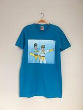 JUNK FOOD Clothing Mens Vintage Super Hero Graphic Print T-Shirt Top Blue M