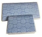 Light Blue w/ Circles Checkbook Cover  Debit Holder Set A1 2S