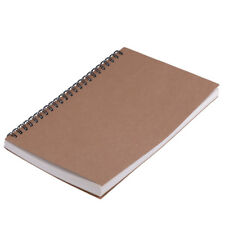 A5 100 Pages Spiral Coils Cardboard Cover Blank Notebook Journal Diary 21 x 14cm
