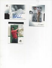 New listing 2001 Upper Deck Golf Cards. Kuchar & Woosnam Autos, Tiger Insert Cards. Lot Of 9