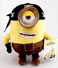 "NEW Universal Studios Minions Movie Exclusive Authentic 10"" Plush Stuart Pirate"