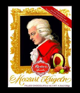 Reber Mozart Kugeln Marzipan Almonds Pistachios & Hazelnuts dark chocolate 120g