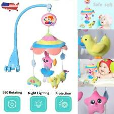 Baby Musical Crib Mobile Hanging Rotating Bell Melodies Infant Bed Decoration US