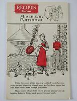 Vintage 1961 Recipe Booklet Recipes from American National Insurance