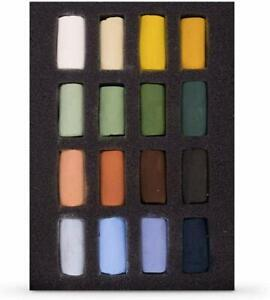 Unison Colour Handmade Soft Pastels Landscape Half Stick Set of 16 Colours