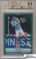 Novak Djokovic 2015 Epoch Tennis SILVER Foil Facsimile Signature #4/20 BGS 9.5