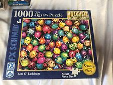 "Fx Schmid 1000 Jigsaw 'Lots O' Ladybugs"" 27x20 Ultra Challenge Complete"