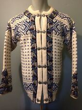 Vtg Dale Norway Knit Wool Ski Sweater Cardigan Womens 42 Classic Party Ladies 12