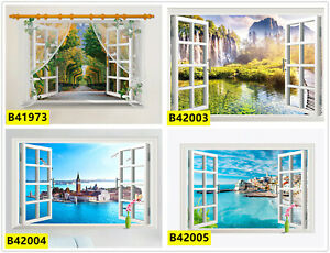 3D Scenery Landscape Windows Home Room Removable Wall Stickers Decals Decoration