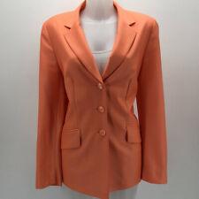 Escada Peach Button Down Blazer Jacket Size 8