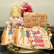 Antique Lot McCall Sewing Patterns/Embroidery/Pattern/Dress/Coat/Zipper FRAGILE