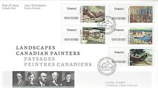 """2016 Landscapes Canadian Painters Kiosk """"P"""" stamps OFDC"""