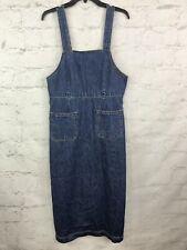 Gap Denim Dress Womens 10 Overall Bib Long Modest Jean