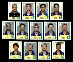 Panini Euro 2000 - Sweden Team x 13 Stickers