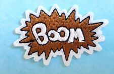 Boom Sign  / Slogan / Iron on / Sew on patch / Applique / Badge