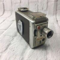 Vintage Kodak Brownie 8mm Movie Camera II Kodachrome Film Type A Film Silver