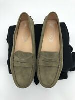 TOD'S Taupe Suede Gommino Shoes Drivers Loafers Moccasins Size 36.5 (US 6.5)