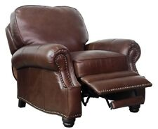 NEW Barcalounger Longhorn II Chocolate Leather Manual Recline Chair Recliner
