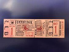 October 1 1950 Yankees v Red Sox Unused Ticket Final Game of Season Williams 4-5