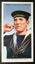 Royal Navy  ' Boatswain's Pipe'   HMS Rodney    Original 1930's Card