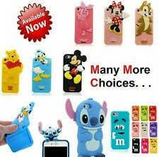 Kid Children 3D Cute Cartoon Funny Soft Gel Case Cover For iPhone 4 4s 5 5s 6 6s