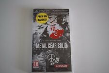 metal gear solid mgs peace walker neuf sous blister