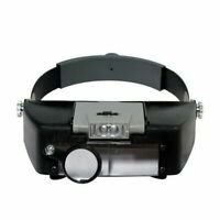 Headset LED Lamp Light Jeweler Magnifier Magnifying Glass Loupe High Quality US