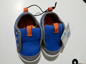 Baby Boy size 3 Garanimals sneaker casual shoes blue orange NEW