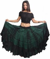 Jupe Flamenco Burgundy Cotton Gypsy Skirt 4 Tier 25 Yard Belly Dance Tribal