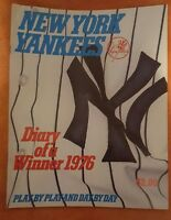 1976 NEW YORK YANKEES DIARY OF A WINNER REGGIE MUNSON GUIDREY AL CHAMPIONS
