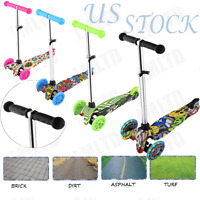Ancheer Kids Scooter Deluxe Age 3-8 Adjustable Kick Scooters 3LED Wheels Durable