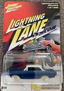 Johnny Lightning 1:64 1965 Chevy Nova Zinger Blue White Lightning #57