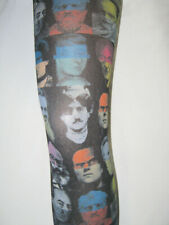Multi colour Punk Tights. 8-12 pink blue black