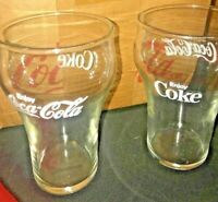 Set 4 Glasses + BOX New Old Stk NOS Vintage Coca Cola Coke Drinking Glasses RARE