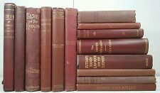 SHAKESPEARE~IRVING~1865-1921~Antique Red 14 Book Lot~Old Set~ROMEO AND JULIET