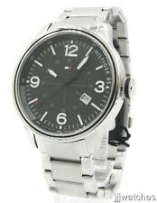 New Tommy Hilfiger Men Steel Dress Military Time Date Watch 46mm 1791105 $135