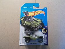 2017 Hot Wheels UNSC WARTHOG HALO (GREEN) SCREEN TIME *CASE A* SIP {BAD CARD}