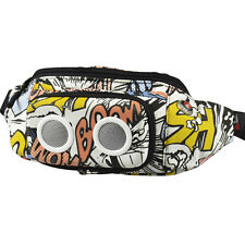 Fanny Waist Pack Removable Speaker waist bag With TF Card Comic book printing