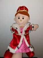 Fiesta Crafts Queen Hand Puppet Soft Toy Rare Great Condition