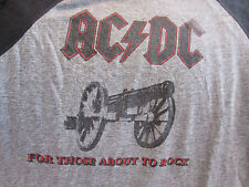 True Vintage Original AC/DC 1982 Concert Shirt XL Jersey For Thoes About to Rock