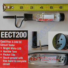 New Snap On Cord Free 3 - 24 Volt LED DC Test Light - EECT200 - Circuit Tester