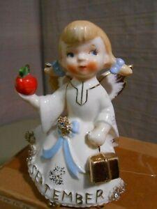 Vtg. Lefton SEPTEMBER BIRTHDAY ANGEL 1987J Jewels