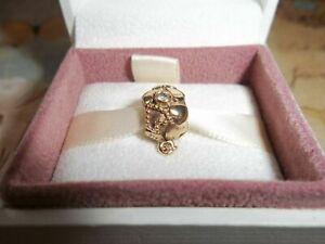 Genuine Authentic Pandora 14ct Gold Amethyst & Sapphire Charm 750354GAM